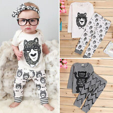 Newborn Infant Baby Boy Mon-ster Outfits Short Sleeve T-shirt+Pants Clothes Sets