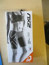 2XU Women WA1932b Compression Shorts Black LARGE NEW IN BOX