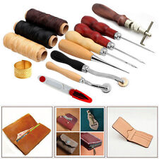 14/13/7Pcs Leather Craft Tool Set Tools Kit Hand Stitching Sewing Thread Thimble