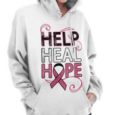 Breast Cancer Awareness Help Heal Hope Pink Ribbon Gift Hoodie Sweatshirt