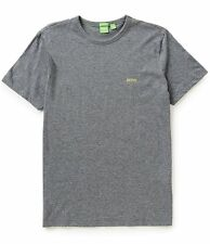 BOSS HUGO BOSS GREEN LOGO SHORT-SLEEVE T-SHIRT MODERN FIT TEE GRAY#50245195-NWT