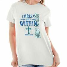 Christ Lives Within Christian T Shirts Jesus Christ Gift Ideas T-Shirt Tee