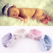 Turban Infant Girls Hospital Headbands Hairbands Newborn Baby Bowknot