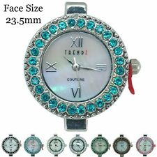 New Ladies Couture Round Beading Rhinestone Fashion Watch Face 23.5mm