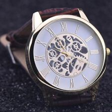 Style Digital Wrist Watches Leather Band Stainless Steel Analog Quartz