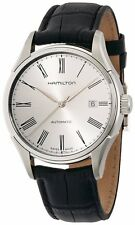 Hamilton Valiant Silver Dial SS Black Leather Men's Automatic Watch H39515754