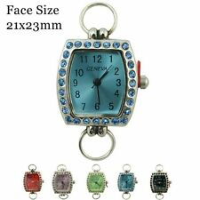 Ladies Geneva Colored Dial With Matching Stones Beading Watch Faces 21x23mm