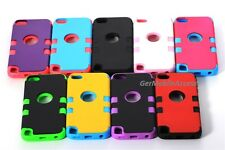 High Impact Hybrid Rubber Matte Hard Case Cover for iPod Touch 5th 6th Gen