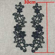 2 X Floral Embroidered Lace Fabric Applique Guipure Wedding Dress Sewing Patch