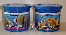 King British 200g Tub of Flaked Fish Food - Goldfish or Tropical. Low Waste