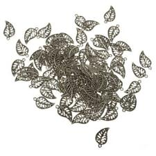 100pcs/pack Alloy Tree Leafs Charms Pendants Jewelry Making Findings Accessories
