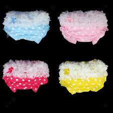 4 Colors with Dots Baby Girl Ruffle Panties Bloomers Diaper Cover S for 0-2Years