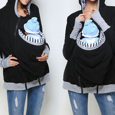 Women Fashion Removable Mommy Babies Pocket Pullover Top Plus Size Outwear