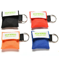 Rescue CPR Resuscitator Mask Keychain Key Ring Emergency Face Shield First Aid @