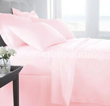 1000TC 100% EGYPTIAN COTTON PINK SOLID AMERICAN BEDDING SHEETS COLLECTION