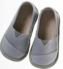 Flat Toddler Canvas Grey Squeaky Shoes Leather Lining Sizes 1- 7 w/Free Stoppers