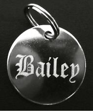 ENGRAVED PET TAG ID DISC CAT KITTEN DOG PUPPY TAGS ENGRAVING OLD ENGLISH NAME