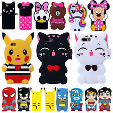 New 3D Cute Cartoon Soft Silicone Rubber Back Case Cover Skin For Apple iPhone