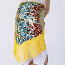 Belly Dance Hip Scarf Indian Dancing Sequined Tassels Triangle Waist Wrap Skirt