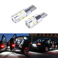 T10 501 W5W Car Side Light Bulbs Error Free Canbus 6 &10SMD LED XENON HID White!
