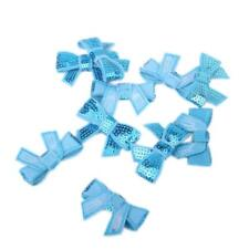 10pcs Lovely New Glitter Bow Sequins Appliques Sewing Decoration for DIY Crafts