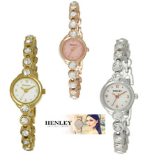 Henley Ladies rose gold / Silver / Gold plated crystal circles watch (3 colours