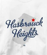 Hasbrouck Heights, New Jersey NJ MAP Souvenir T Shirt All Sizes & Colors