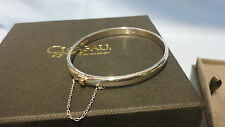 Welsh Clogau Sterling Silver & Rose Gold Cariad Bangle RRP £219