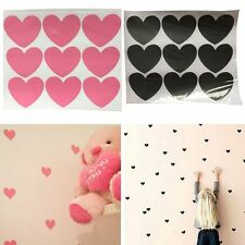 60Pcs DIY Removable Hearts Kids Wall Stickers Nursery Room Decor Decal Art Mural