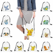Pokemon Go School Drawstring Book Bag Sport Gym Swim Dance Shoe Travel Backpack