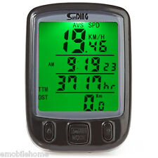 SunDing SD - 563B Outdoor Water Resistant Cycling Odometer Speedometer