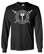 Thors Hammer Sword Rune LONGSLEEVE T-shirt - S to 5XL - Norse Odin Viking Thor