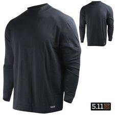 5.11 Tactical Performance Cotton Long Sleeve Mock Base Layer Shirt Midnight Navy
