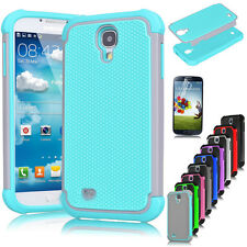 Hybrid Rugged Rubber Matte Hard Case Cover for Samsung Galaxy S4 S IV I9500 Gift