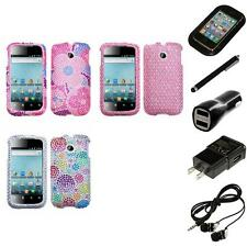 For Huawei Ascend 2 M865 Diamond Diamante Bling Rhinestone Case Cover Headphones