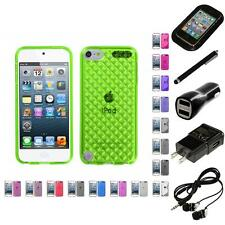 For Apple iPod Touch 5th 6th Gen TPU Rubber Skin Flexible Case Cover Headphones