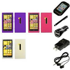 For Nokia Lumia 920 Silicone Skin Rubber Soft Case Phone Cover Headphones