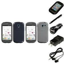For Samsung Galaxy Exhibit T599 TPU Rubber Skin Flexible Case Cover Headphones