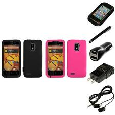 For ZTE Warp 4G Silicone Skin Rubber Soft Case Phone Cover Headphones