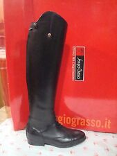 NEW SERGIO GRASSO YOUNG FIELD BOOTS TALL BLACK LEATHER 36/37 (US 6/7) LM 43/34