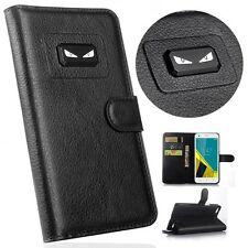 New Angry eyes Flip Cover Stand Wallet PU Leather Case For LG Mobile Phones