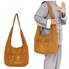 Monk Buddhist Meditation Shoulder Canvas Temple Bags Embroidery Pagoda Lotus
