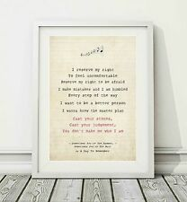 279 A Day To Remember - Sometimes You're The Hammer - Song Lyric Print - A4 A3