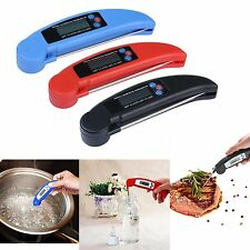 Kitchen Cooking Thermometer Food BBQ Meat Digital Display Timer Accurate Read