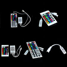 For 3528 5050 RGB LED Strip Light 3/10/24/44 Key IR Remote Wireless ControllerSW