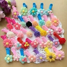 40pcs/lot Cute Flower Kids Girls baby Hair Clips hairpins Hair Accessories