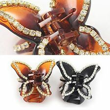 Women Girl Rhinestone Bling Hair Clip Claw Hairpin Crystal Clamp Accessories