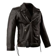 Leather New BRANDO Men's Classic Black Motorcycle Biker Jacket with removable CE