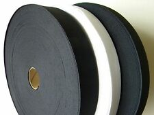 1 Roll Knitted Elastic Black/White Size:  2 inch wide 50 Yards New~knit Elastic