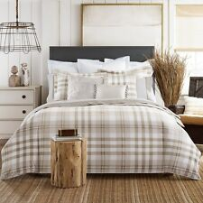 Tommy Hilfiger Modern Universal Beige Plaid 3-PC Comforter Set Twin Full/Queen